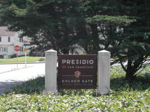 Entrance to the Presidio, formerly a military base near San Francisco
