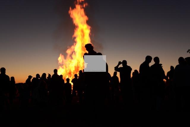 Autumnal Equinox celebration at Bagpipes and Bonfire festival,  Lake Forest Open Lands Association on September 23, 2012.