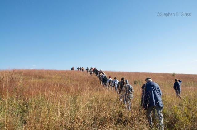 Grassland Restoration Network tour of prairie restoration in McHenry County (IL) Conservation District.