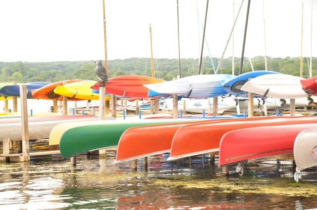 The Wingra Boats canoe rental concession at Wingra Park.  Photo by Stephen B. Glass.