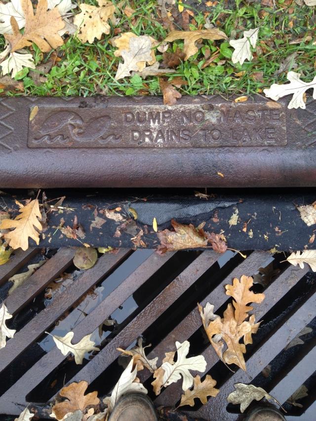 """Dump No Waste, Drains To Lake"""