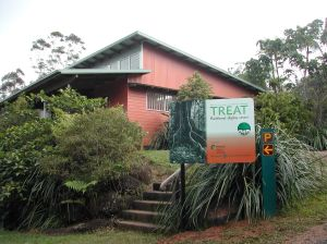 Lake Eacham office of the Queensland Parks and Wildlife Service.