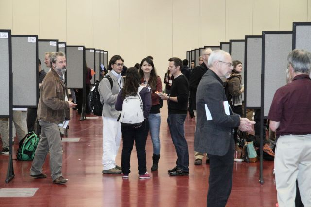 The SER 2013 poster session.  Photo by David H. Thompson.