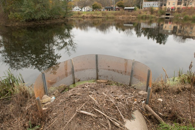 City of Madison storm water detention Pond #5 on Monroe Street.